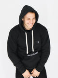 Men's Hooded Sweatshirt -Black - Inspiring Sweatshirt by Thomas Scott