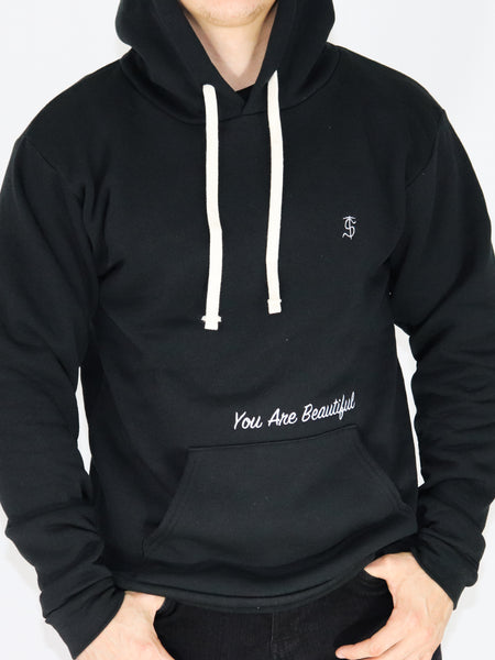 Men's Hooded Sweatshirt -Black - Inspirational Sweatshirt by Thomas Scott