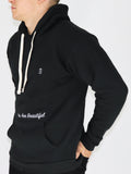 Men's Hooded Sweatshirt -Black - Motivating Sweatshirt by Thomas Scott
