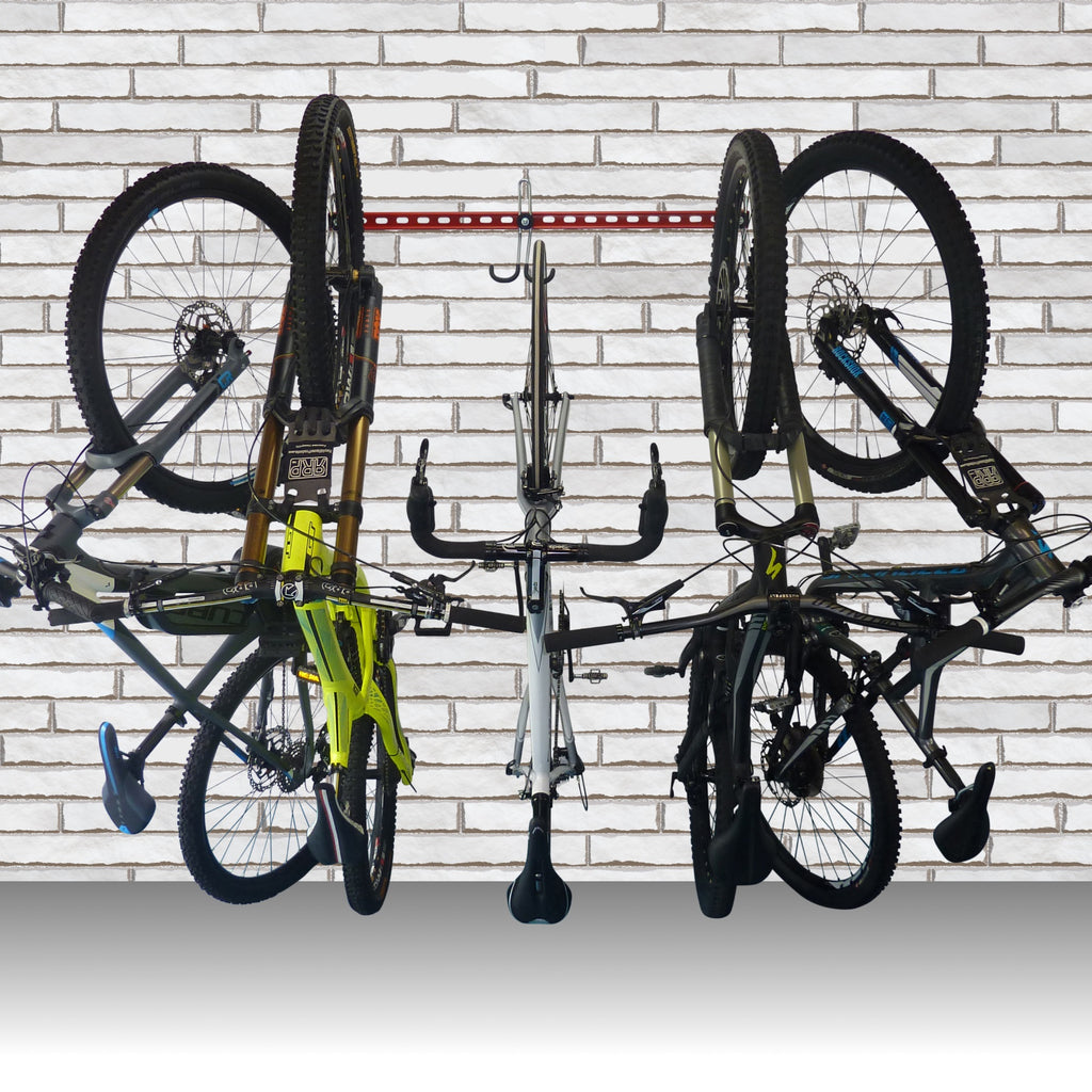 How to store up to 6 bikes in just 1M of wall space - without any lifting.