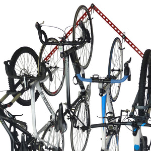 Is it OK to store a bike vertically on the wall. Can I hang a bike by the front wheel?