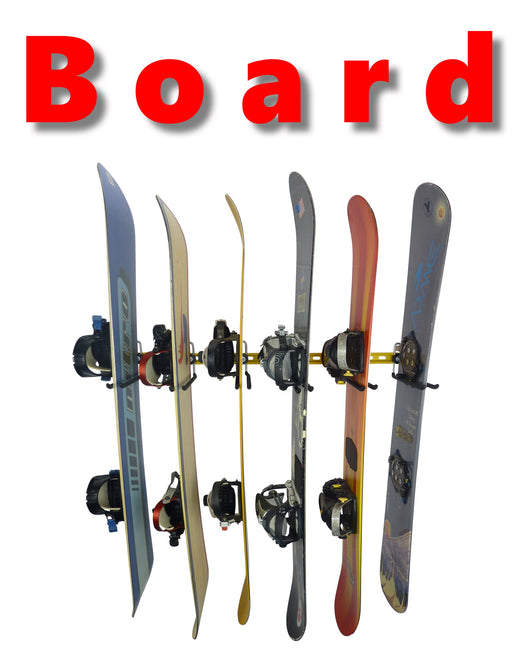 Snowboard wall mounting hooks and storage racks