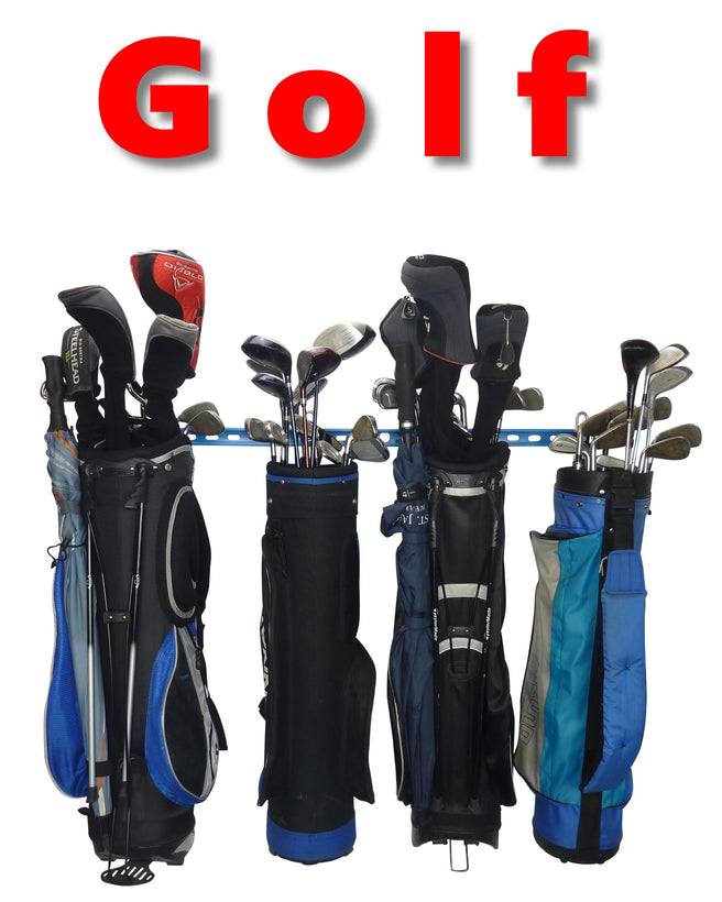 GearHooks® Golf bag storage racks and golf equipment organiser