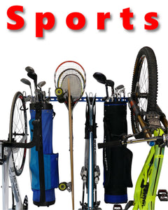 Sports Equipment Wall Storage Rack