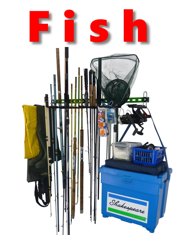 Fishing tackle storage racks