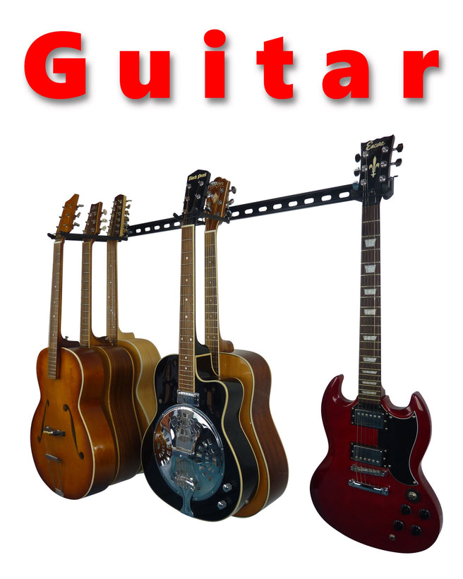 GearHooks® guitar and musical instruments wall storage rack
