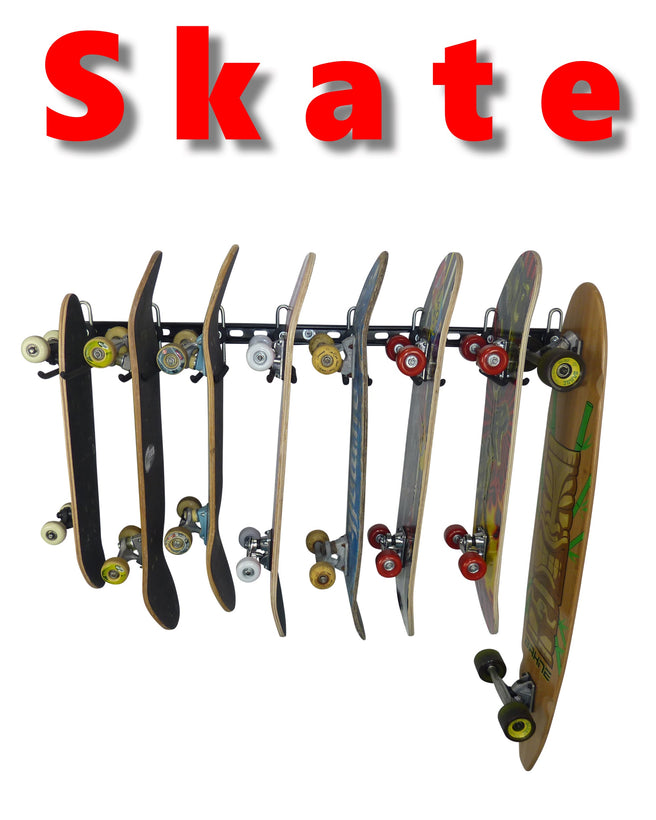 GearHooks® Skateboard storage and display racks