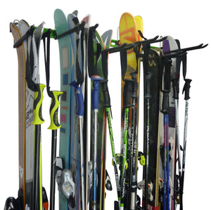 ski rack for 2/4/6/8/10 or 12 pairs of skis and poles