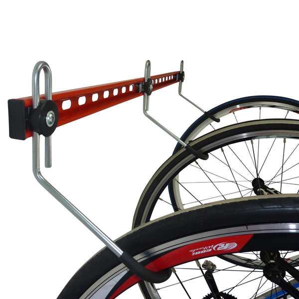 Wall mounting bike rack for 3 bikes