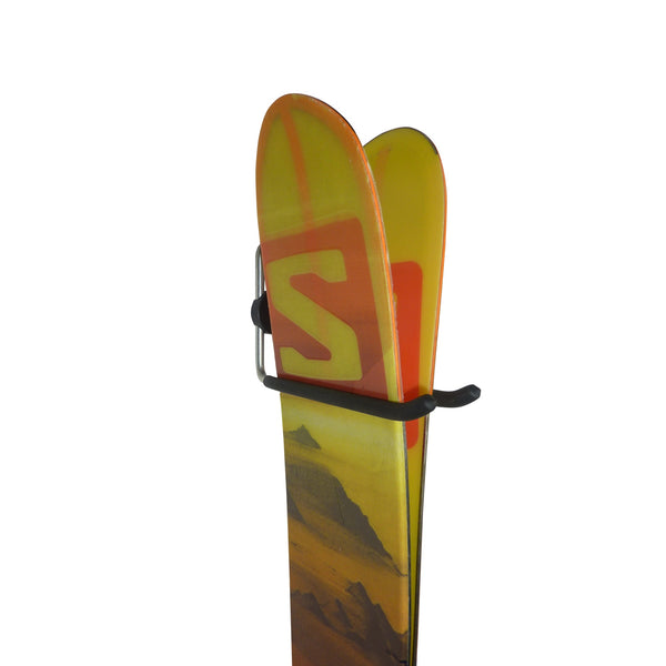 Ski storage hooks for 1 pair of skis and poles