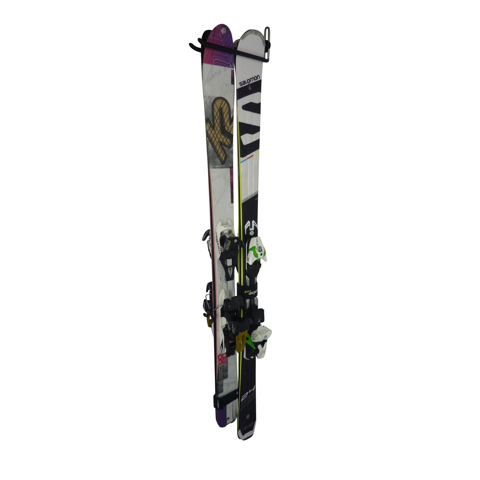 Ski wall mount - ski storage hook for 2 pairs of skis. GearHooks SH2