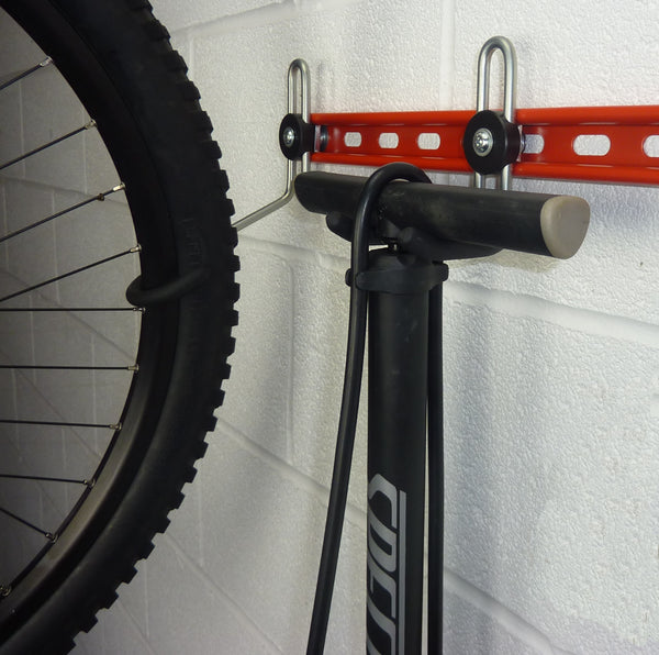 GearHooks bike accessory storage hooks. DP60/100 Track Pump storage hook
