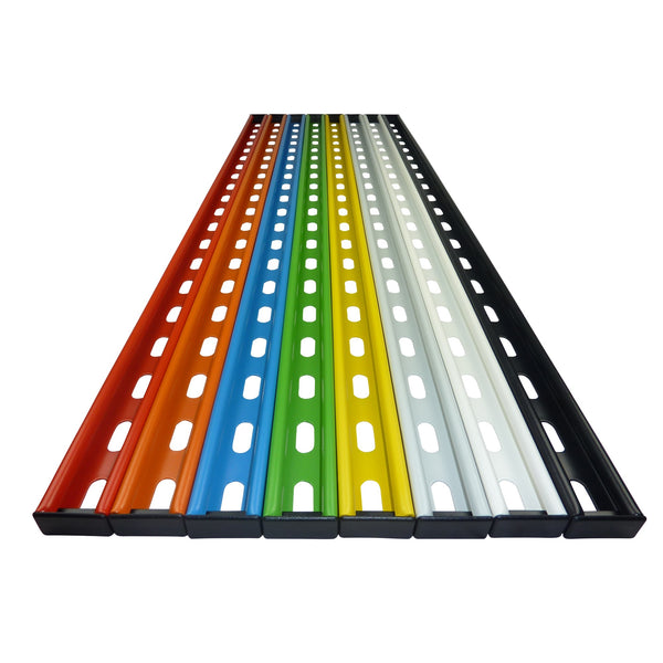 GearRail colour choices showing red, orange, blue, green, yellow, grey, white, black