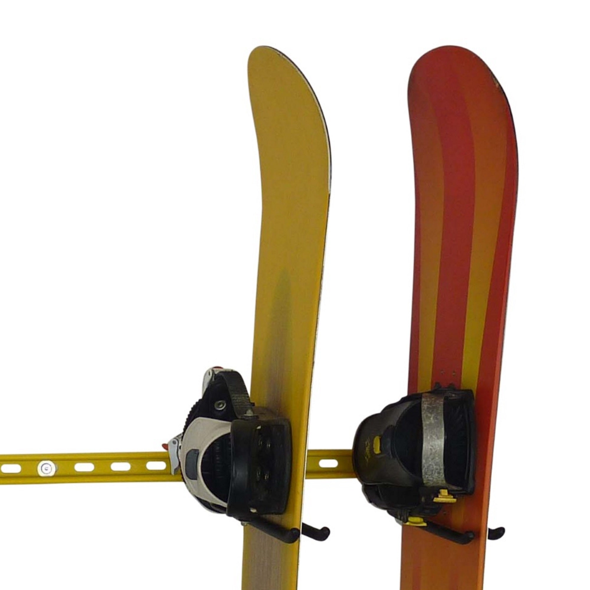 Snowboard storage hooks for 1 snowboard