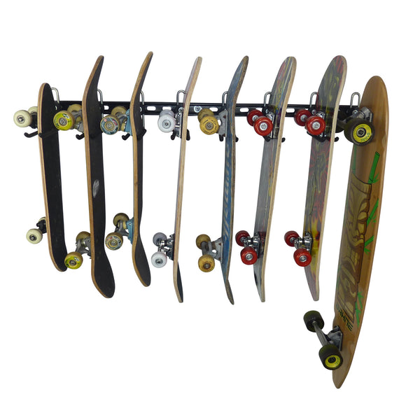 skateboard wall storage rack for 8 skateboards