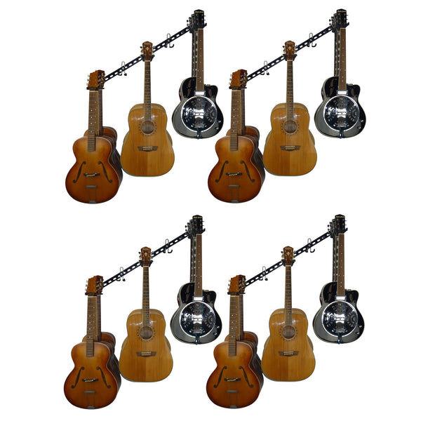 Guitar wall storage and display rack. GearHooks® GTR3-100/200/300