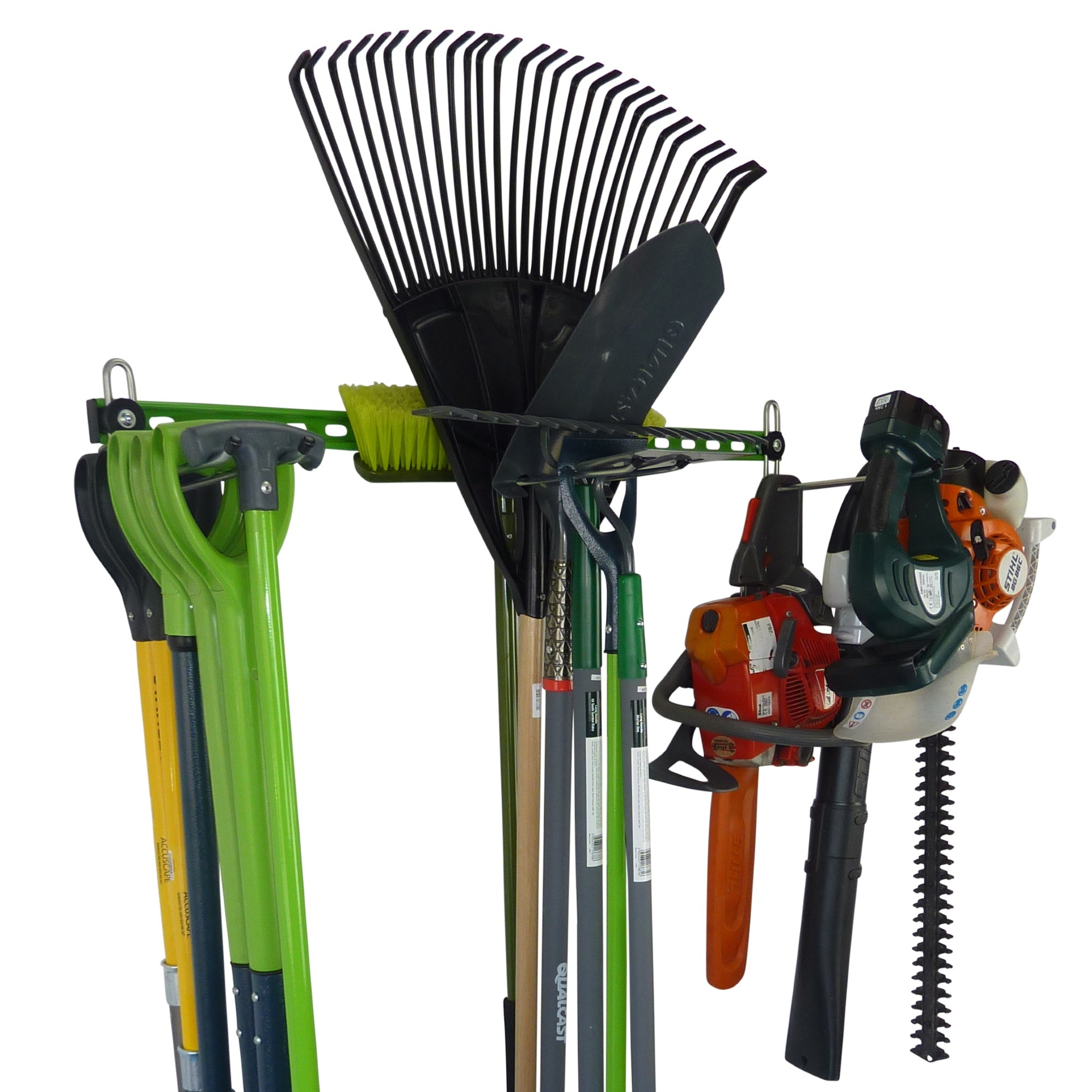 Garden tool rack for 15 or more tools