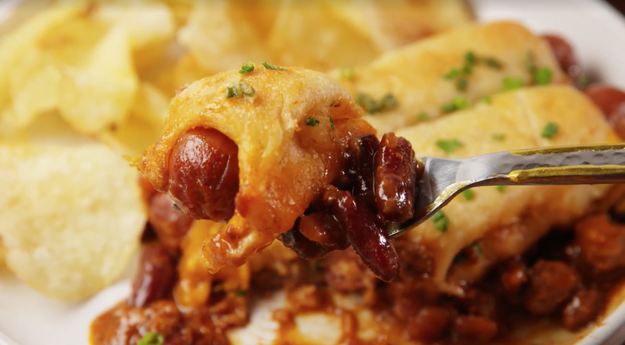 Recipe 14. Chili Cheese Dog Casserole