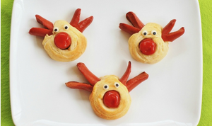 Recipe 9. Christmas Reindeer Hot Dogs