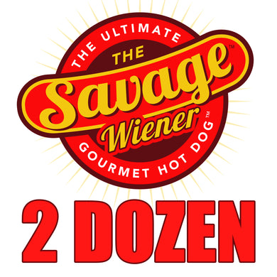 24 Gourmet Steak Wieners - The Savage Wiener