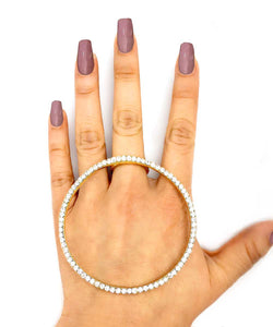 GOLD CIRCLE RHINESTONE RING