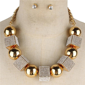 FASHION SQUARE NECKLACE SET