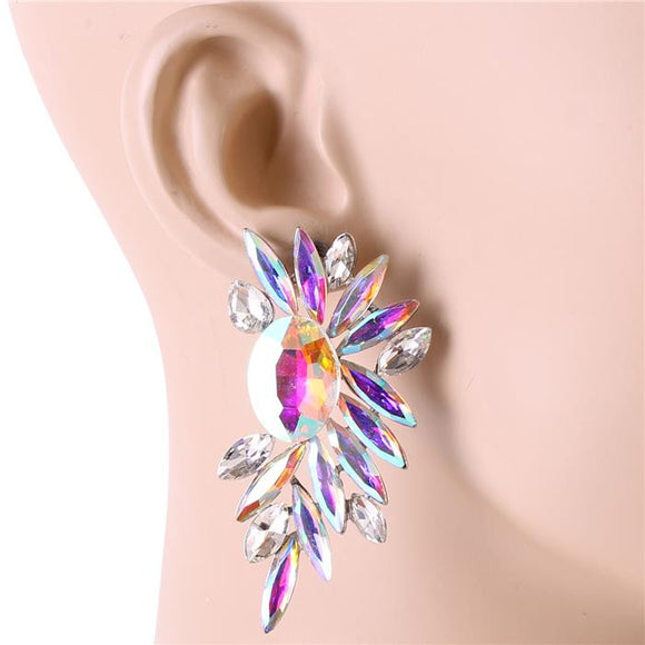 MULIT COLORED CRYSTAL EARRINGS