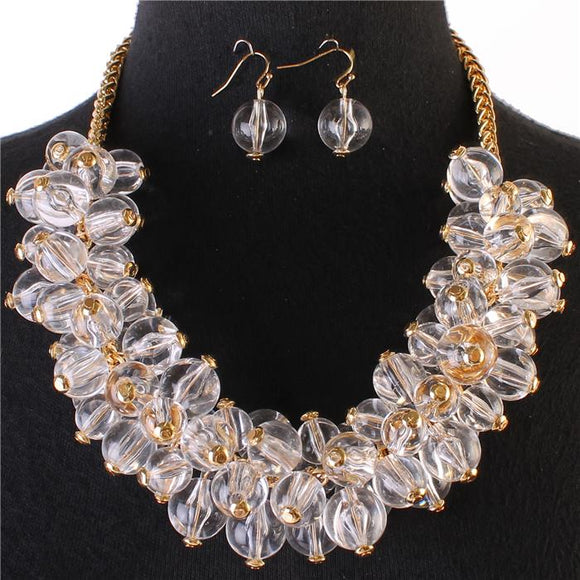 TRANSLUCENT PEARL NECKLACE SET