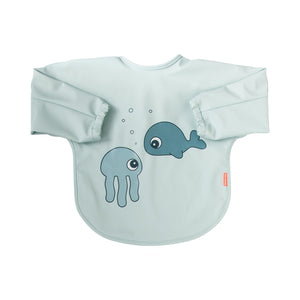 Babero con Mangas 6-18M Sea Friends: Azul