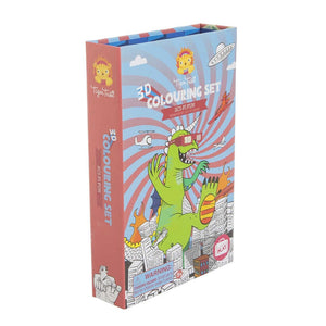 3D Colouring Set: Dinosaurios