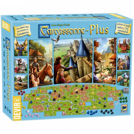 Carcassonne Plus con 11 expansiones ed. 2017