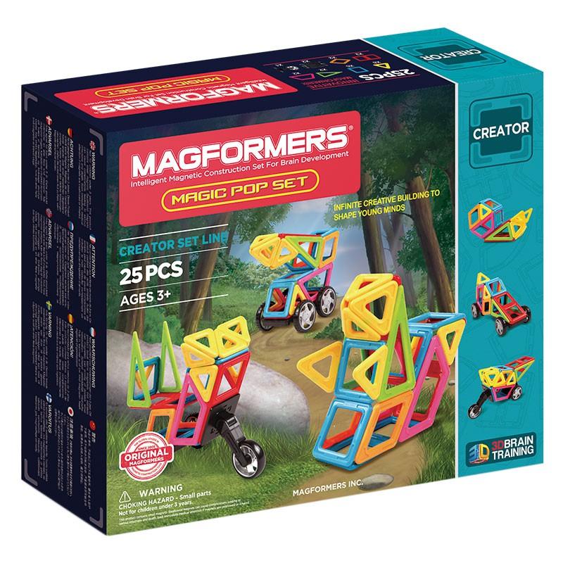 Magformers - Wow Set Magic pop 25 piezas