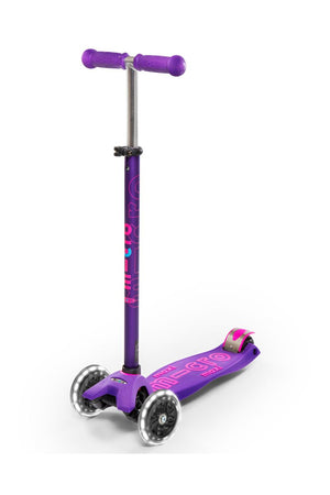 Patinete Maxi Deluxe Lila Led