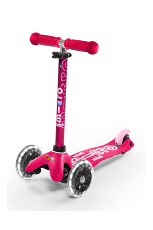 Patinete Mini Deluxe Rosa Led