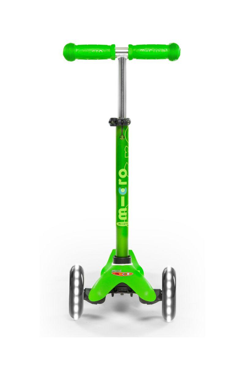 Patinete Mini Deluxe Verde Led