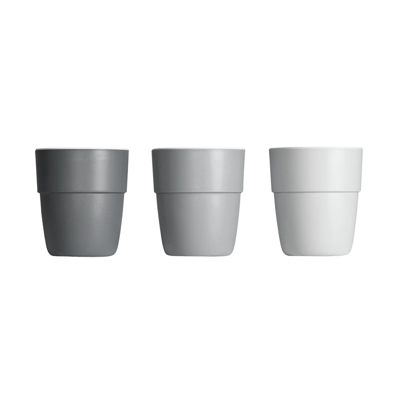 Pack de 3 Mini Vasos Yummy: Gris