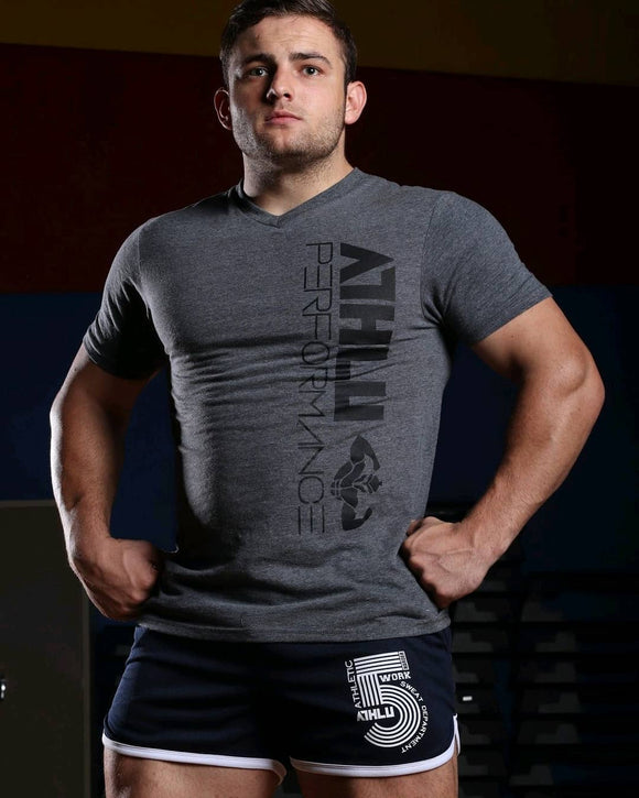 ATHLU MENS BASIC T - ATHLUPERFORMANCE