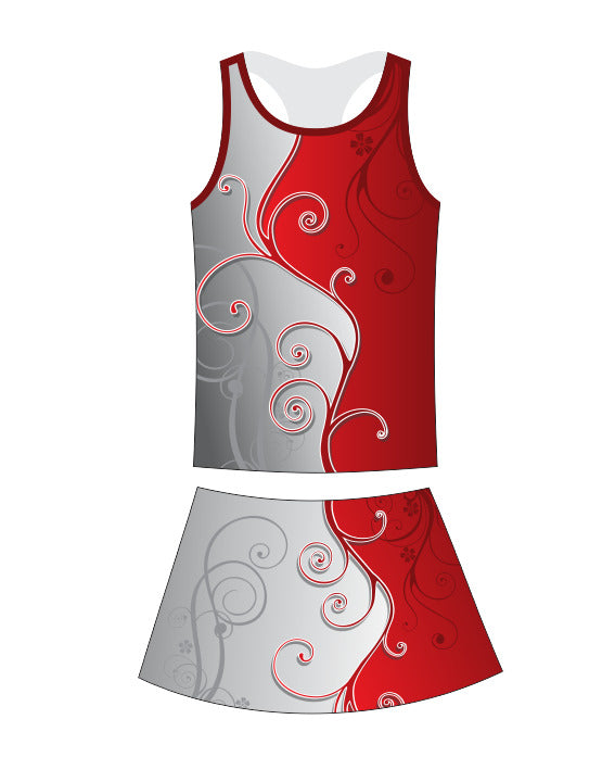Netball Top and Skirt Set - Sublimated