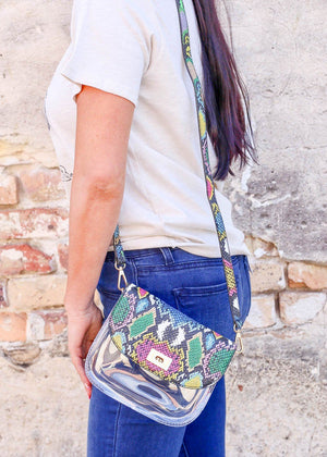 Varsity Clear Crossbody Bag SNAKE MULTI GRAFFITI