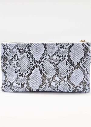 Liz Custom Collection Crossbody Bag Snake Periwinkle