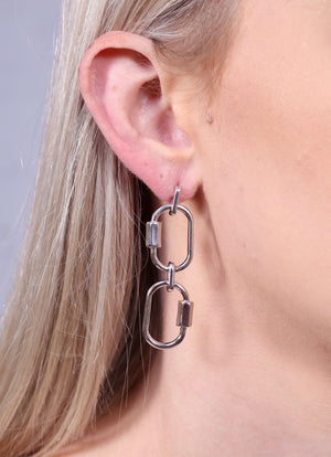 Robinson Chain Link Post Earring SILVER