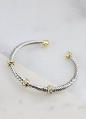 Stella Two Tone Cable Bracelet GOLD-SILVER
