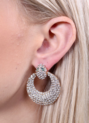 Rallin Round Snake Head Post Earring GOLD