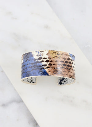 Kissaway Snake Print Cuff NATURAL MULTI