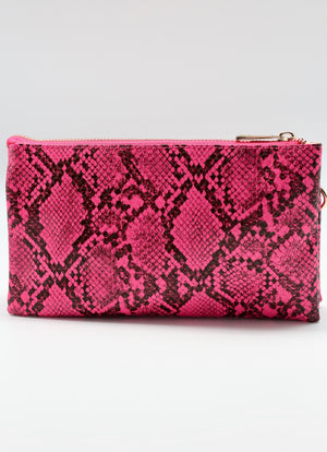 Liz Custom Collection Crossbody Bag Snake Neon Pink
