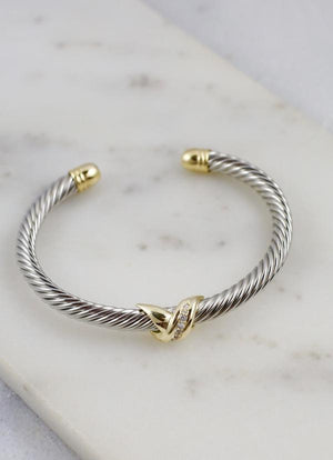 Krista Two Tone Cable Bracelet GOLD-SILVER