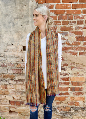 Brendon Striped Scarf MUSTARD