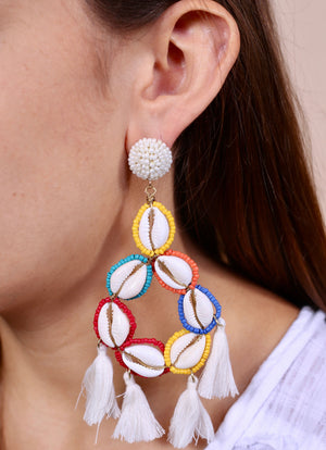 Shimmy and Shake Shell Earring MULTI