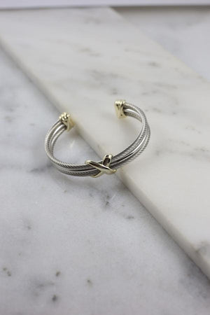 Tessa Three Row Cable Bracelet GOLD-SILVER