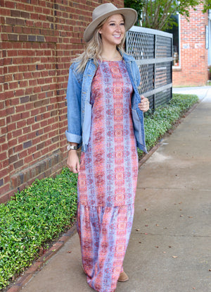 Bohemian Rhapsody Maxi Dress (6 Pack) SUNSET SNAKE
